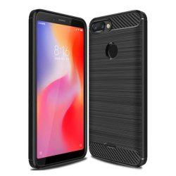 Carbon telefon tok telefontok (hátlap) rugalmas Cover TPU Xiaomi redmi 6 fekete