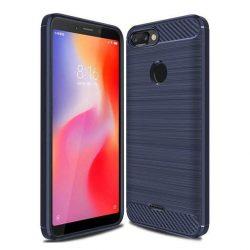 Carbon telefon tok hátlap tok rugalmas Cover TPU tok telefon tok hátlap Xiaomi redmi 6 kék