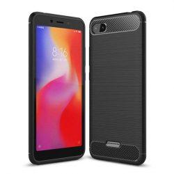 Carbon telefon tok hátlap tok rugalmas Cover TPU tok telefon tok hátlap Xiaomi redmi 6A fekete