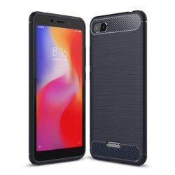 Carbon telefon tok hátlap tok rugalmas Cover TPU tok telefon tok hátlap Xiaomi redmi 6A kék