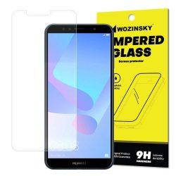 Wozinsky edzett üveg 9H Képernyővédő fólia Huawei Y6 2018 (csomagolás - boríték) kijelzőfólia üvegfólia tempered glass
