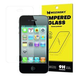 Wozinsky edzett üveg 9H Képernyővédő fólia iPhone 4S / 4 (csomagolás - boríték) kijelzőfólia üvegfólia tempered glass