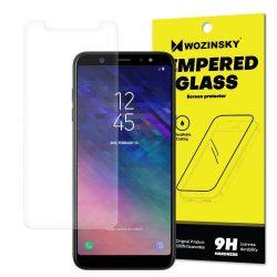 Wozinsky edzett üveg 9H képernyővédő fólia Samsung Galaxy A6 Plus 2018 A605 (csomagolás - boríték) kijelzőfólia üvegfólia tempered glass