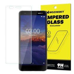 Wozinsky edzett üveg 9H képernyővédő fólia Nokia 3.1 (csomagolás - boríték) kijelzőfólia üvegfólia tempered glass