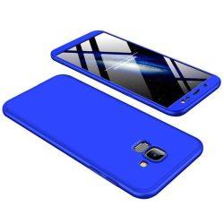 GKK 360 Protection telefon tok hátlap tok Első és hátsó tok telefon tok hátlap az egész testet fedő Samsung Galaxy J6 J600 2018 kék