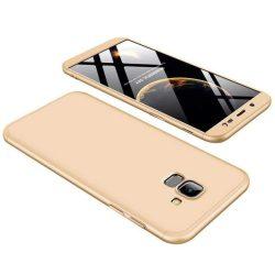 GKK 360 Protection telefon tok hátlap tok Első és hátsó tok telefon tok hátlap az egész testet fedő Samsung Galaxy J6 J600 2018 arany
