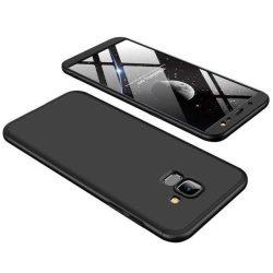 GKK 360 Protection telefon tok hátlap tok Első és hátsó tok telefon tok hátlap az egész testet fedő Samsung Galaxy J6 J600 2018 fekete