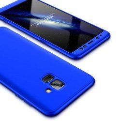 GKK 360 Protection telefon tok telefontok Első és hátsó az egész testet fedő Samsung Galaxy A6 2018 A600 kék