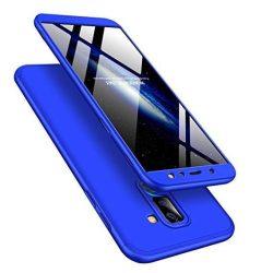 GKK 360 Protection telefon tok hátlap tok Első és hátsó tok telefon tok hátlap az egész testet fedő Samsung Galaxy A6 Plus 2018 A605 kék