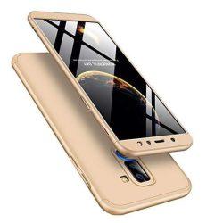 GKK 360 Protection telefon tok hátlap tok Első és hátsó tok telefon tok hátlap az egész testet fedő Samsung Galaxy A6 Plus 2018 A605 arany