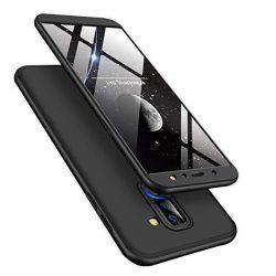 GKK 360 Protection telefon tok hátlap tok Első és hátsó tok telefon tok hátlap az egész testet fedő Samsung Galaxy A6 Plus 2018 A605 fekete