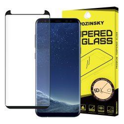 Wozinsky edzett üveg 5D FullGlue Super Tough képernyővédő fólia Teljes Coveraged kerettel Samsung Galaxy S9 G960 fekete kijelzőfólia üvegfólia tempered glass