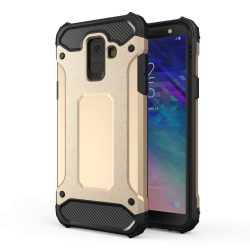 Hibrid Armor telefon tok telefontok Ütésálló Robusztus Cover Samsung Galaxy A6 2018 A600 arany
