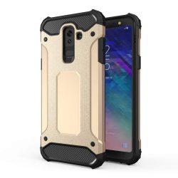 Hibrid Armor telefon tok hátlap tok Ütésálló Robusztus Cover Samsung Galaxy A6 Plus 2018 A605 arany