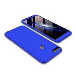 GKK 360 Protection telefon tok hátlap tok Első és hátsó tok telefon tok hátlap az egész testet fedő Huawei Y7 Prime 2018/2018 Y7 kék