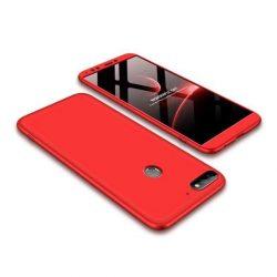 GKK 360 Protection telefon tok hátlap tok Első és hátsó tok telefon tok hátlap az egész testet fedő Huawei Y7 Prime 2018/2018 Y7 piros