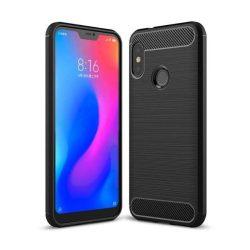 Carbon telefon tok telefontok rugalmas Cover TPU Xiaomi Mi A2 Lite / redmi 6 Pro fekete