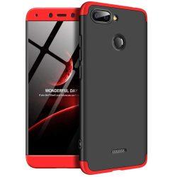 GKK 360 Protection telefon tok telefontok (hátlap) Első és hátsó az egész testet fedő Xiaomi redmi 6 fekete-piros
