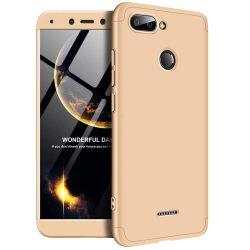 GKK 360 Protection telefon tok hátlap tok Első és hátsó tok telefon tok hátlap az egész testet fedő Xiaomi redmi 6 arany