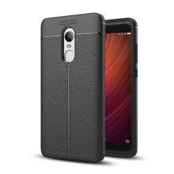 Litchi Pattern rugalmas Cover TPU telefon tok telefontok Xiaomi redmi 5 Plus / redmi 5 NOTE (egyszeri kamera) fekete