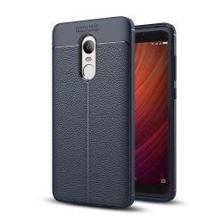 Litchi Pattern rugalmas Cover TPU telefon tok telefontok Xiaomi redmi 5 Plus / redmi 5 NOTE (egyetlen kamera), kék