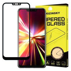 Wozinsky edzett üveg Teljes Glue Super Tough képernyővédő fólia Teljes Coveraged kerettel telefon tok hátlap tok barát Huawei Mate 20 Lite fekete kijelzőfólia üvegfólia tempered glass