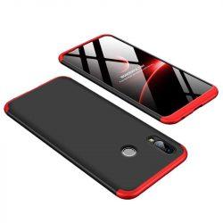 GKK 360 Protection telefon tok hátlap tok Első és hátsó tok telefon tok hátlap az egész testet fedő Huawei Honor Play fekete-piros