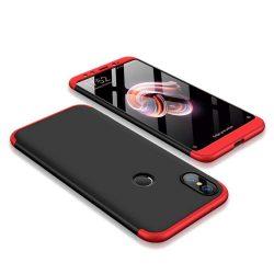 GKK 360 Protection telefon tok hátlap tok Első és hátsó tok telefon tok hátlap az egész testet fedő Xiaomi Mi A2 / Mi 6X fekete-piros