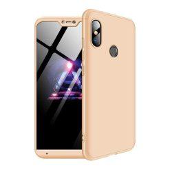 GKK 360 Protection telefon tok hátlap tok Első és hátsó tok telefon tok hátlap az egész testet fedő Xiaomi Mi A2 Lite / redmi 6 Pro arany
