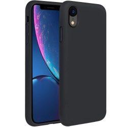 Szilikon tok telefon tok hátlap lágy rugalmas gumi védőborítás iPhone XR fekete