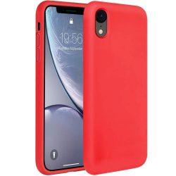 Szilikon tok telefon tok hátlap lágy rugalmas gumi védőborítás iPhone XR piros