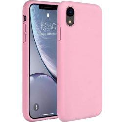 Szilikon tok telefon tok hátlap lágy rugalmas gumi védőborítás iPhone XR pink