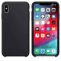 Szilikon tok telefon tok hátlap lágy rugalmas gumi védőborítás iPhone XS Max fekete