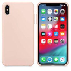 Szilikon tok telefon tok hátlap lágy rugalmas gumi védőborítás iPhone XS Max pink