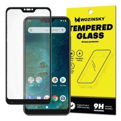 Wozinsky edzett üveg Teljes Glue Super Tough képernyővédő fólia Teljes Coveraged kerettel Case barátságos Xiaomi Mi A2 Lite / redmi 6 Pro fekete kijelzőfólia üvegfólia tempered glass