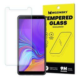 Wozinsky edzett üveg 9H képernyővédő fólia Samsung Galaxy A7 2018 A750 (csomagolás - boríték) kijelzőfólia üvegfólia tempered glass