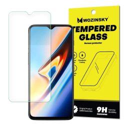 Wozinsky edzett üveg 9H képernyővédő fólia OnePlus 6T (csomagolás - boríték) kijelzőfólia üvegfólia tempered glass