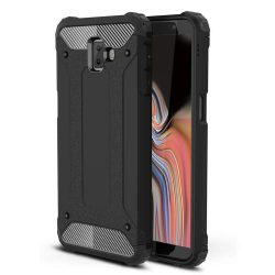 Hibrid Armor telefon tok hátlap tok Ütésálló Robusztus Cover Samsung Galaxy J6 Plus 2018 J610 fekete