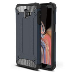 Hibrid Armor telefon tok hátlap tok Ütésálló Robusztus Cover Samsung Galaxy J6 Plus 2018 J610 kék