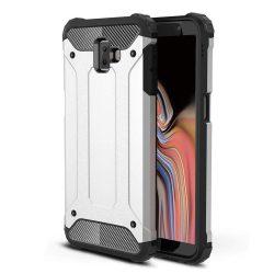 Hibrid Armor telefon tok telefontok (hátlap) tok Ütésálló Robusztus Cover Samsung Galaxy J6 Plus 2018 J610 ezüst