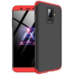 GKK 360 Protection telefon tok hátlap tok Első és hátsó tok telefon tok hátlap az egész testet fedő Samsung Galaxy A6 Plus 2018 A605 fekete-piros