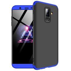 GKK 360 Protection telefon tok hátlap tok Első és hátsó tok telefon tok hátlap az egész testet fedő Samsung Galaxy A6 Plus 2018 A605 fekete-kék