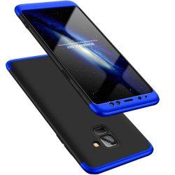 GKK 360 Protection telefon tok telefontok (hátlap) Első és hátsó az egész testet fedő Samsung Galaxy A8 2018 A530 fekete-kék