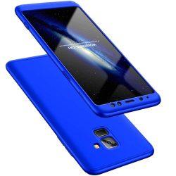 GKK 360 Protection telefon tok telefontok (hátlap) Első és hátsó az egész testet fedő Samsung Galaxy A8 2018 A530 kék