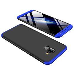 GKK 360 Protection telefon tok telefontok Első és hátsó az egész testet fedő Samsung Galaxy A6 2018 A600 fekete-kék