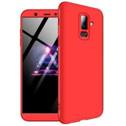 GKK 360 Protection telefon tok hátlap tok Első és hátsó tok telefon tok hátlap az egész testet fedő Samsung Galaxy A6 Plus 2018 A605 piros