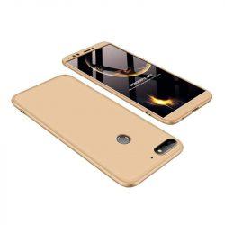 GKK 360 Protection telefon tok telefontok Első és hátsó az egész testet fedő Huawei Y7 Prime 2018 arany