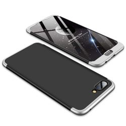 GKK 360 Protection telefon tok hátlap tok Első és hátsó tok telefon tok hátlap az egész testet fedő Huawei Honor 10 fekete-ezüst