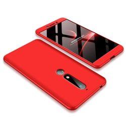 GKK 360 Protection telefon tok telefontok Első és hátsó az egész testet fedő Nokia 6.1 piros