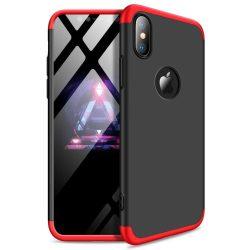 GKK 360 Protection telefon tok telefontok Első és hátsó az egész testet fedő iPhone XS Max fekete-piros (logo lyuk)
